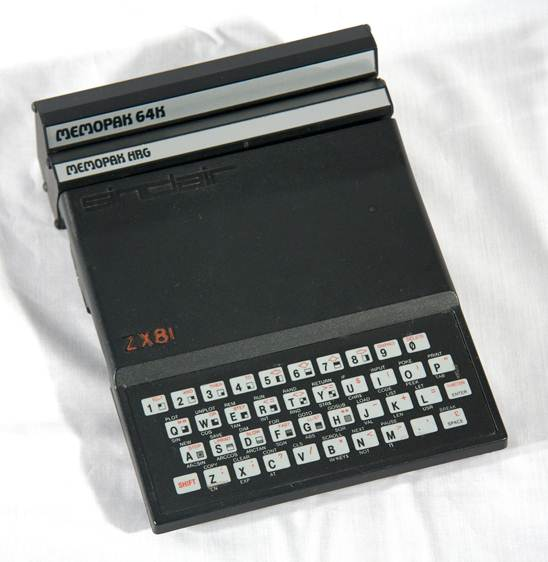Sinclair ZX81 with Memotech MemoPak 64K and High Resolution Graphics expansions fitted