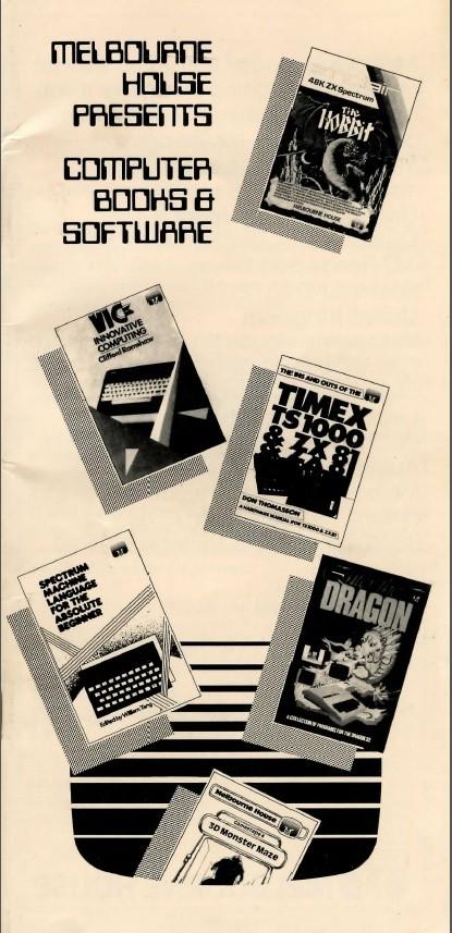 Melbourne House Catlog 1982